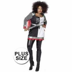 Grote maat gladiator outfit carnaval dames
