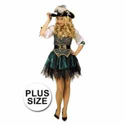 Grote maat musketiers outfit carnaval dames