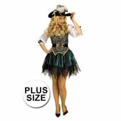 Grote maat piraten outfit carnaval dames