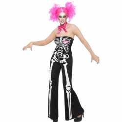 Halloween dames outfit skelet