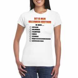 Halloween halloween outfit lijstje t shirt wit dames