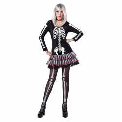 Halloween skelet outfit carnaval dames