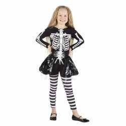 Halloween Skelet outfit carnaval meisjes