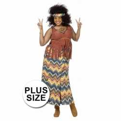 Hippie outfit grote maat