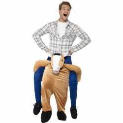 Instap dierenpak outfit paard carnaval volwassenen