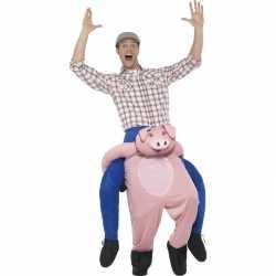 Instap dierenpak outfit varken carnaval volwassenen
