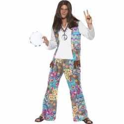 Jaren 60 hippie outfit groovy carnaval heren