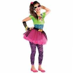 Jaren 80 disco outfit feestkleding carnaval meisjes 10 12 jaar