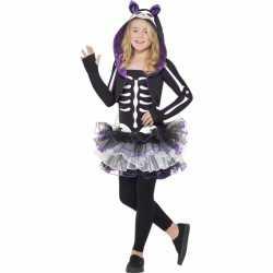 Kat skelet outfit carnaval kinderen
