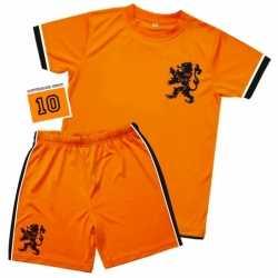 Kinderen oranje voetbal outfit