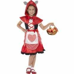 Kinderoutfit roodkapje carnaval meisjes