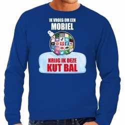 Kut kerstbal sweater / kerst outfit ik vroeg om een mobiel krijg ik deze kut bal blauw carnaval heren