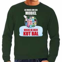 Kut kerstbal sweater / kerst outfit ik vroeg om een mobiel krijg ik deze kut bal groen carnaval heren