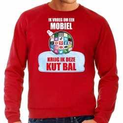Kut kerstbal sweater / kerst outfit ik vroeg om een mobiel krijg ik deze kut bal rood carnaval heren