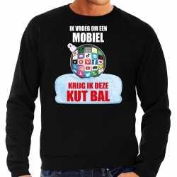 Kut kerstbal sweater / kerst outfit ik vroeg om een mobiel krijg ik deze kut bal zwart carnaval heren