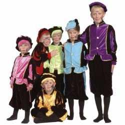 Luxe blauwe Pieten outfit carnaval kinderen