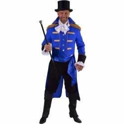 Luxe circus directeur outfit zwart carnaval heren