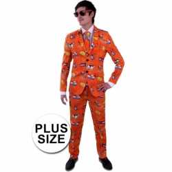 Luxe nederland outfit grote maat carnaval heren