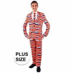 Luxe oranje outfit nederlandse vlag carnaval heren carnaval