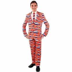 Luxe oranje outfit nederlandse vlag carnaval heren