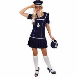 Matrozen outfit carnaval dames 2 delig