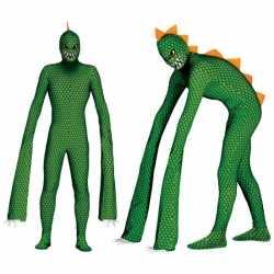 Monster reptielen outfitlange armen carnaval heren
