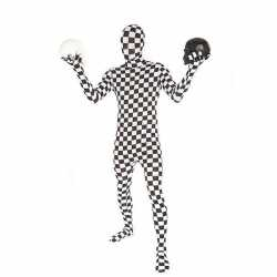 Morphoutfit outfit zwart wit geblokt