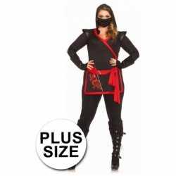 Ninja dames outfit 4 delig grote maat
