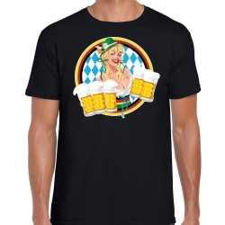 Oktoberfest / bierfeest drank fun t shirt / outfit zwartbeierse kleuren carnaval heren