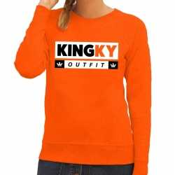 Oranje kingky outfit sweater carnaval dames