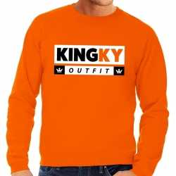 Oranje kingky outfit sweater carnaval heren