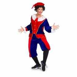 Pieten outfit medium rood/blauw