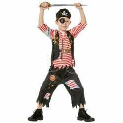 Piraat verkleedoutfit carnaval kinderen
