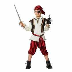 Piraat verkleedoutfit rood/zwart carnaval kinderen