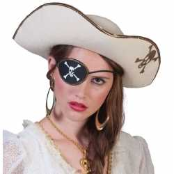 Piratenoutfit accessoires witte piratenhoedschedel
