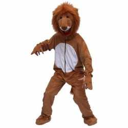 Pluche leeuw outfit bruin
