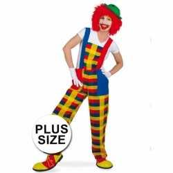 Plus size clown pebbi carnavalsoutfit