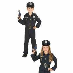 Politie agent verkleed outfit carnaval jongens/meisjes