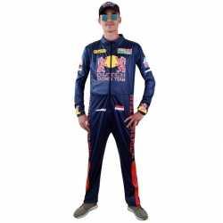 Race coureur verkleed outfit carnaval heren