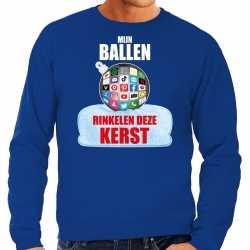Rinkelende kerstbal sweater / kerst outfit mijn ballen rinkelen deze kerst blauw carnaval heren