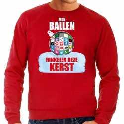 Rinkelende kerstbal sweater / kerst outfit mijn ballen rinkelen deze kerst rood carnaval heren