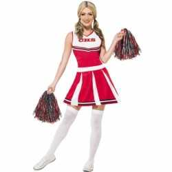 Rode cheerleader outfit dames