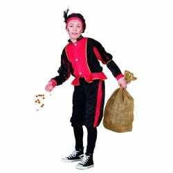Rood zwarte pieten outfit carnaval kinderen