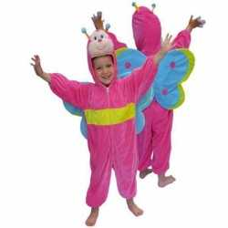 Roze vlinder outfitpluche