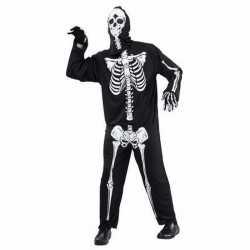 Skelet/doodshoofd verkleedoutfit carnaval damesheren