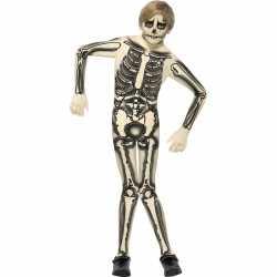 Skelet outfit carnaval kinderen