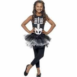 Skelet outfit carnaval meiden