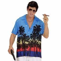 Slechterik outfit foute blouse blauw carnaval heren