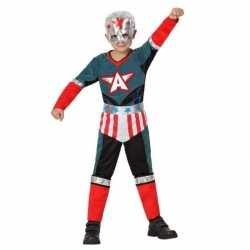 Superheld kapitein amerika pak/verkleed outfit carnaval jongens