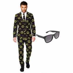 Verkleed batman net heren outfit maat 56 (xxxl)gratis zonnebril